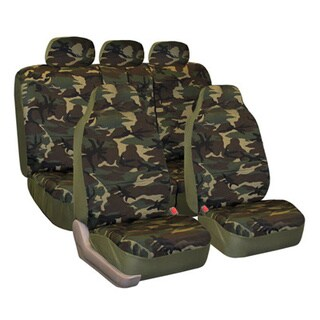 Camouflage Car Seat Covers Airbag Compatible and Split Bench (Full Set)