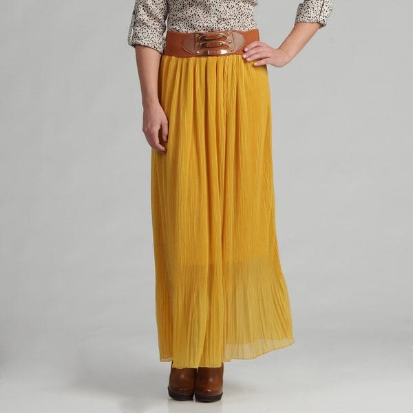 Meetu Magic Women's Majestic Gold Skirt with Pleats