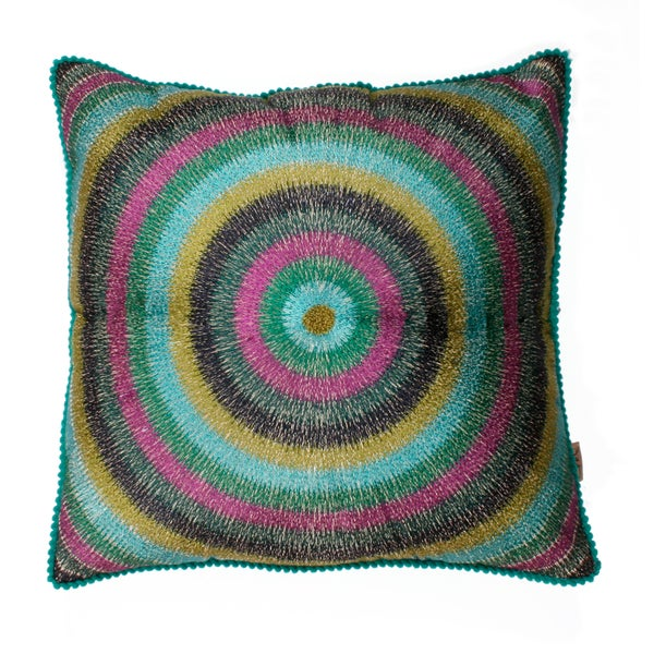 Marlo Lorenz Bona Embroidered 16-inch Pillow