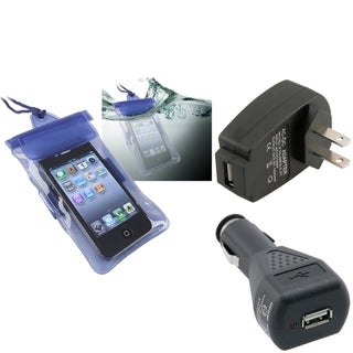 INSTEN Blue Waterproof Bag/ Travel/ Car Charger for Apple iPhone 5