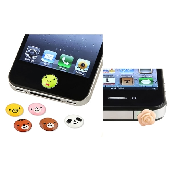 INSTEN Animal Home Button Sticker/ Dust Cap for Apple iPhone 4/ 4S/ 5