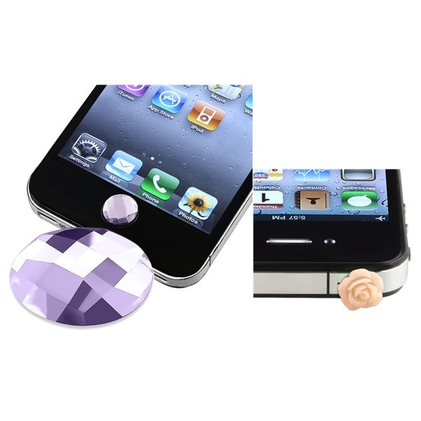 BasAcc Purple Home Button Sticker/ Dust Cap for Apple iPhone 4/ 4S/ 5