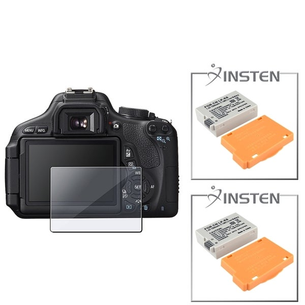 INSTEN Battery/ Screen Protector for Canon Digital Rebel T3i