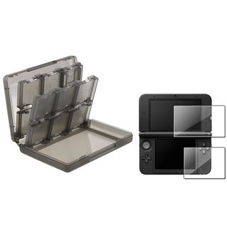 INSTEN Game Card Case Cover/ 2-LCD Screen Protector for Nintendo 3DS XL
