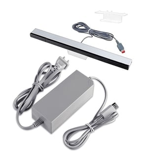 INSTEN AC Power Adapter/ Wired Sensor Bar for Nintendo Wii