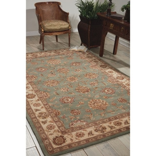 Nourison 2000 Hand-tufted Kashan Light Blue Rug