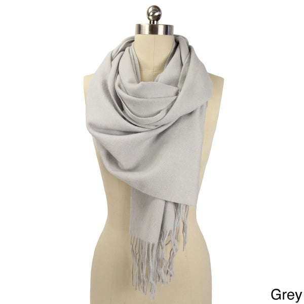 Solid Wool Blend Scarf (India)