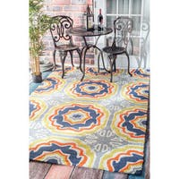 nuLOOM Handmade Indoor/ Outdoor Spanish Tiles Multi Rug - 5' x 8'