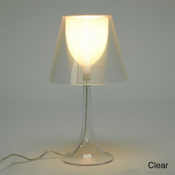 Baxton Studio 'Simpla' Clear Acrylic Modern Table Lamp
