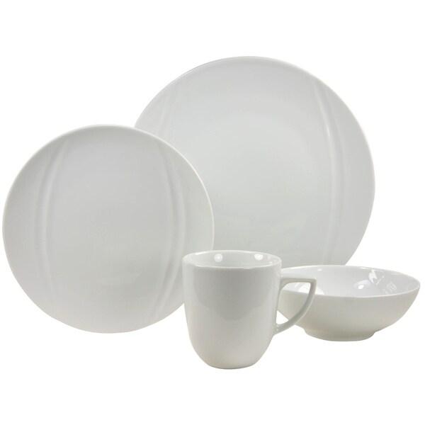 French Home 16-piece Carat Decor Fine Porcelain Dinner Ware Set