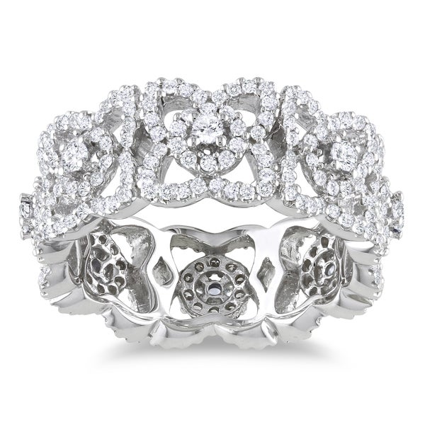 Miadora 14k White Gold 1ct TDW Diamond Ring
