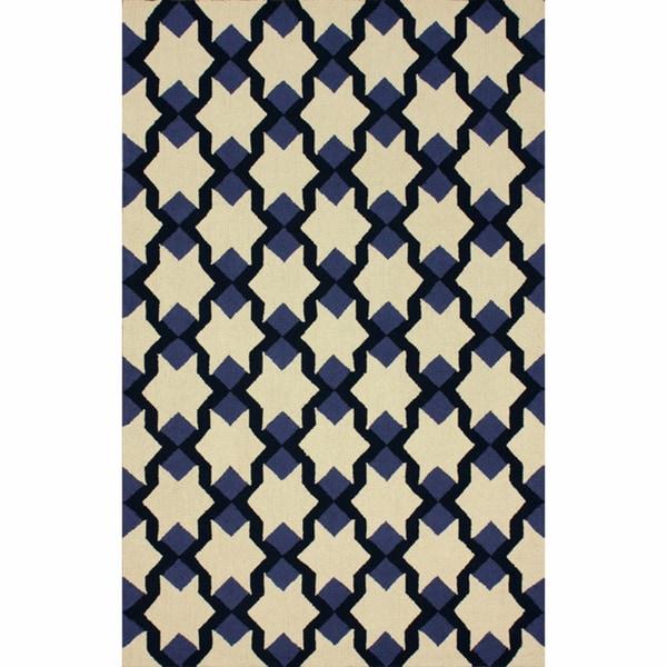 nuLOOM Handmade Star Trellis Ivory Wool Rug