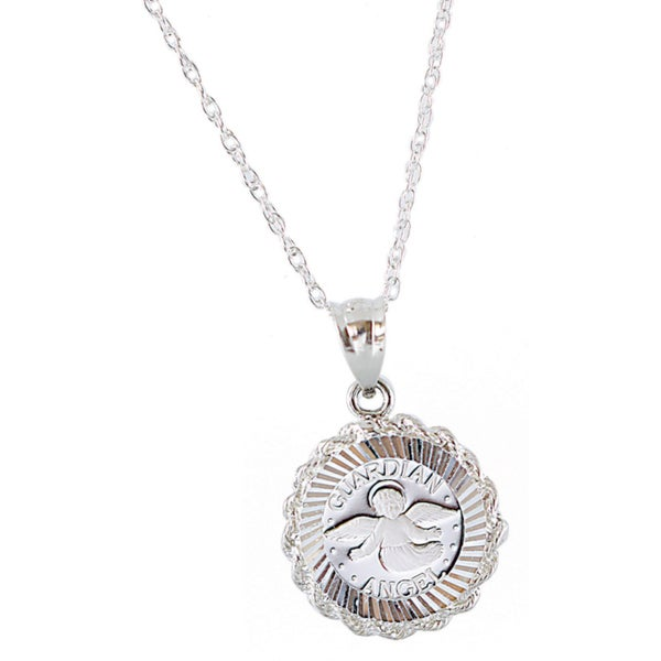 American coin treasures sterling silver guardian angel pendant american coin treasures sterling silver guardian angel pendant aloadofball Image collections