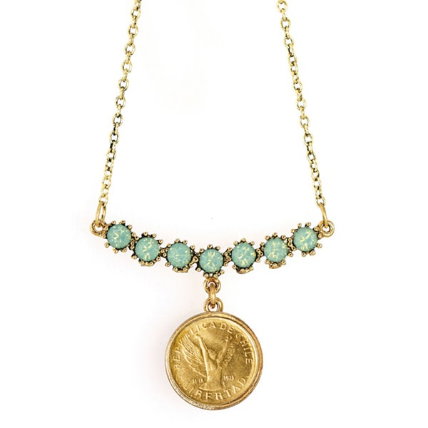 American Coin Treasures Angel Coin Swag Necklace