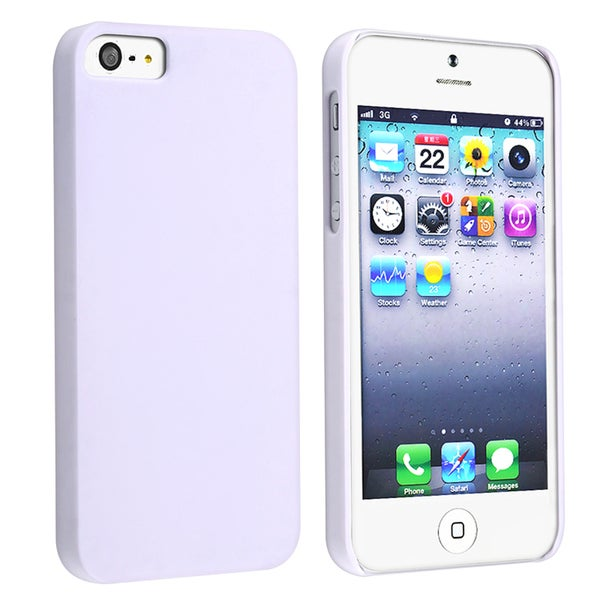 BasAcc Solid White Rear Snap-on Case for Apple iPhone 5