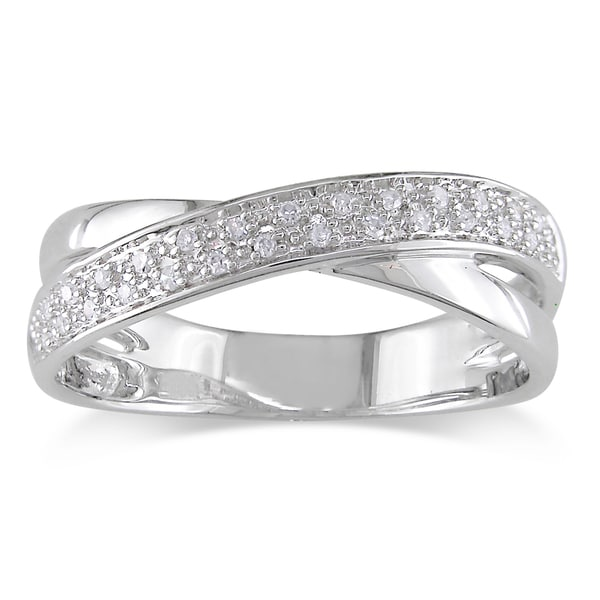 Miadora 10k White Gold Diamond Ring (H-I, I2-I3)