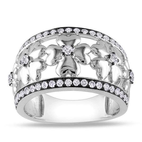 Miadora Signature Collection 14k White Gold 1/2ct TDW Diamond Ring (G-H, I1-I2)