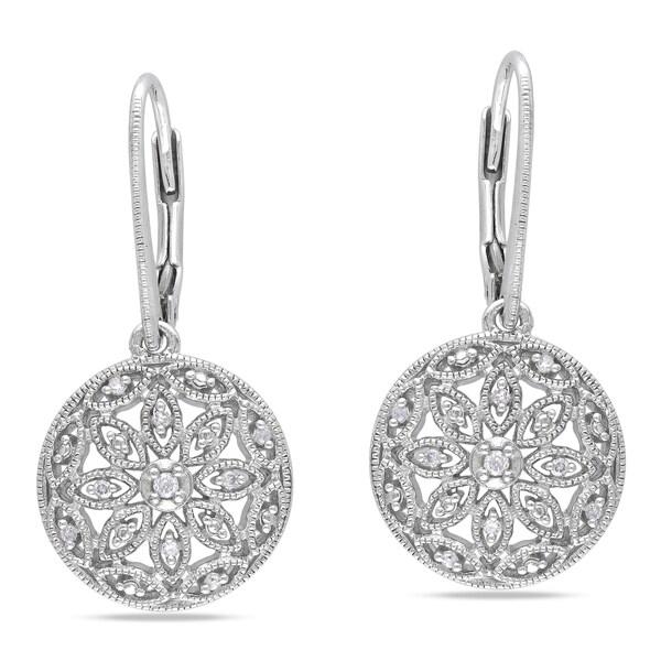 Sterling Silver 1/10ct TDW Diamond Earrings (G-H, I1-I2)