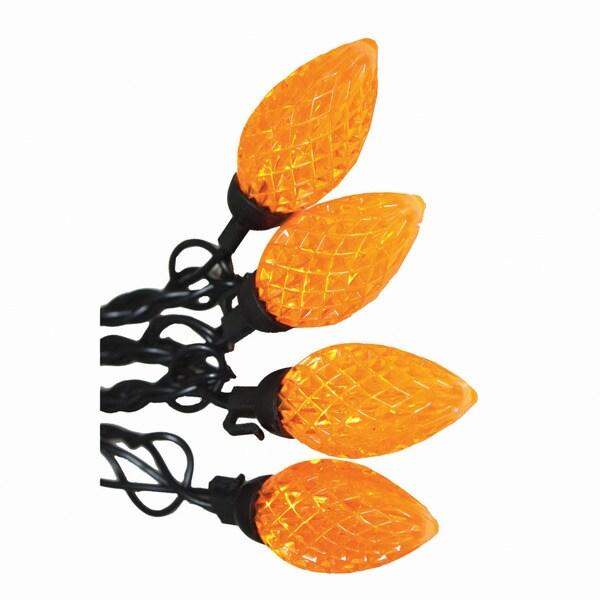 Light Set Orange Diamond Cut C9 LED Lights