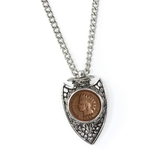 American Coin Treasures 19th Century Indian Cent Arrowhead Men's Pendant