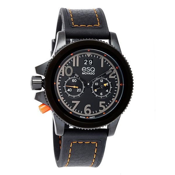 ESQ by Movado Men's Black Ion-Plated Stainless Steel Fusion Watch