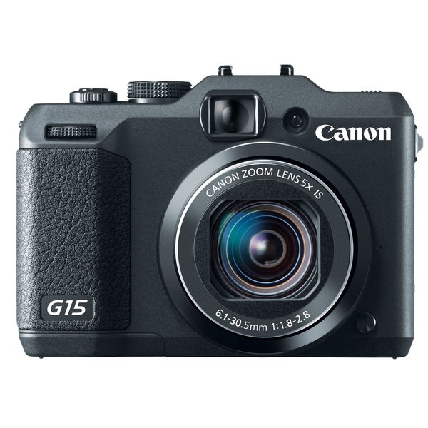 Canon PowerShot G15 12.1MP Black Digital Camera