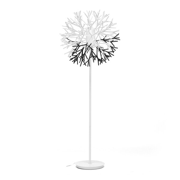 Twigg White and Black Modern Floor Lamp