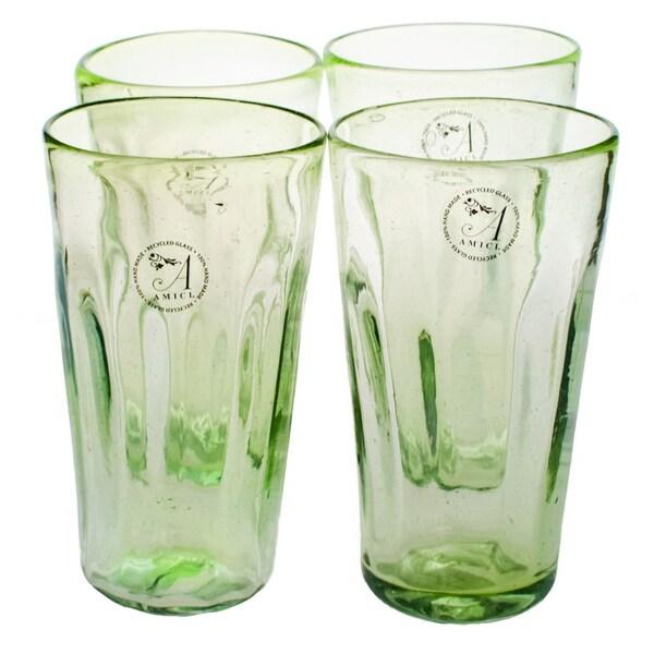 Luster Green Hiball Glass (Set of 4)