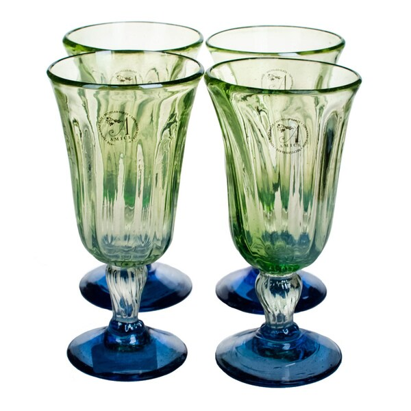 Luster Green Goblet (Set of 4)