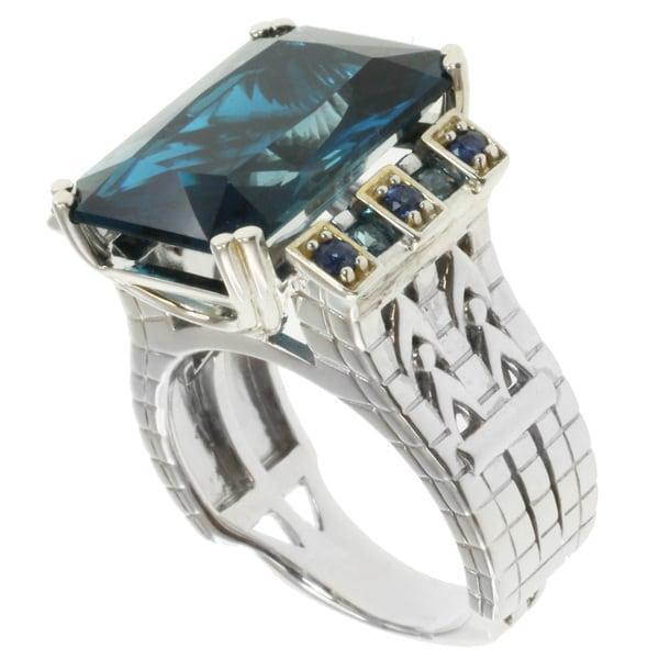Michael Valitutti Two-tone Silver Brooklyn Bridge Ring