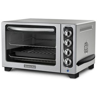 KitchenAid RKCO223CU Contour Silver 12-inch Convection Bake Countertop Oven (Refurbished)