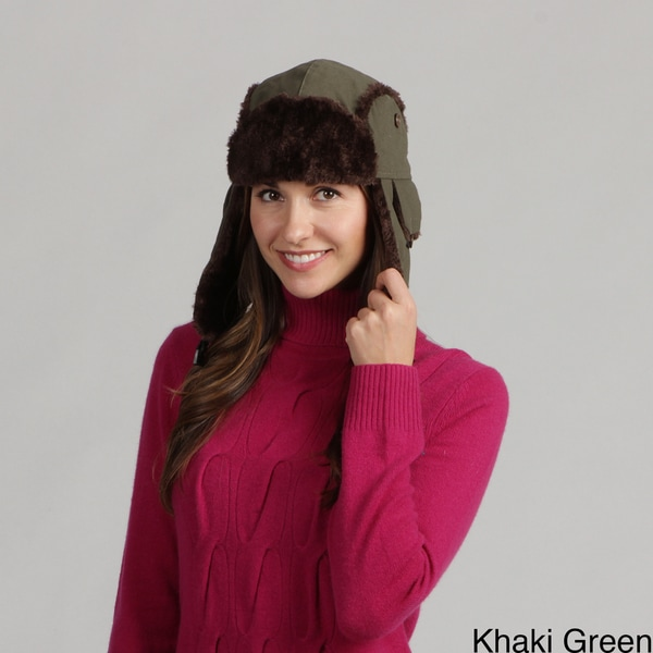 David and Young Women's Faux Fur Trapper Ski Hat