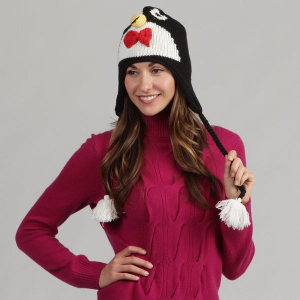 David and Young Women's Penguin Face Animal Beanie