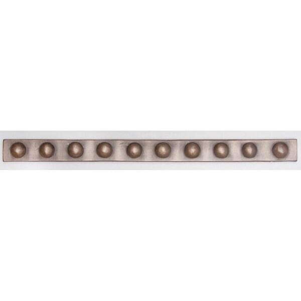 Metallicos Egyptian Busiris Bronze 1-inch x 12-inch Decorative Tiles (Set of 4)