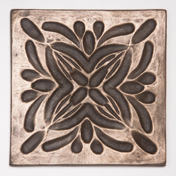 Metallicos Egyptian Rosetta Bronze 4-inch x 4-inch Decorative Tiles (Set of 4)