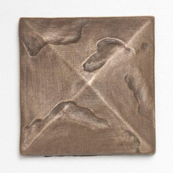 Metallicos Egyptian Damieta Bronze 2-inch x 2-inch Decorative Tiles (Set of 6)