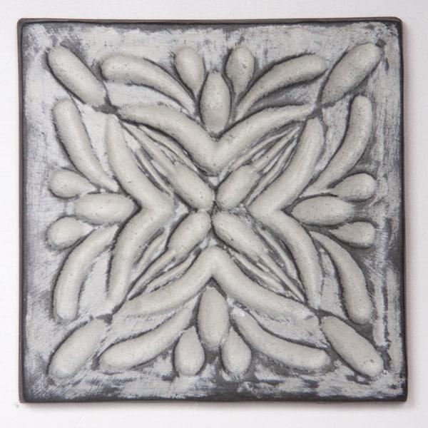 Metallicos Egyptian Rosetta Vintage 4-inch x 4-inch Decorative Tiles (Set of 4)