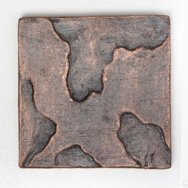 Metallicos Egyptian Tanis Antique Copper 2-inch x 2-inch Decorative Tiles (Set of 6)