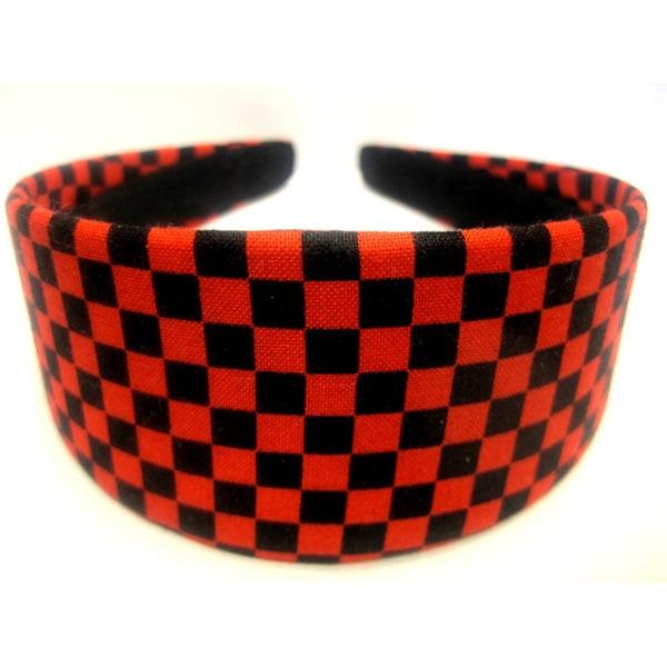 Crawford Corner Shop Red Black Checkered Headband