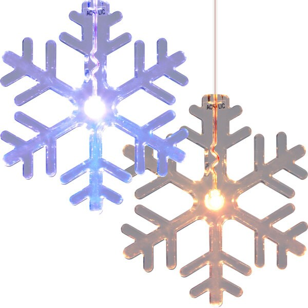 LED Color Changing Snowflake Window Ornaments (Set of 12)