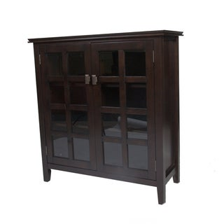 WYNDENHALL Stratford Espresso Brown Medium Storage Media Cabinet & Buffet
