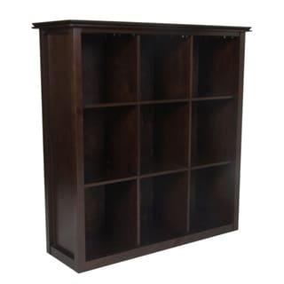 WYNDENHALL Stratford Espresso Brown 9 Cube Bookcase & Storage Unit