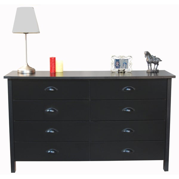 Venture Horizon X27 Nouvelle Black Finish 8 Drawer Lowboy