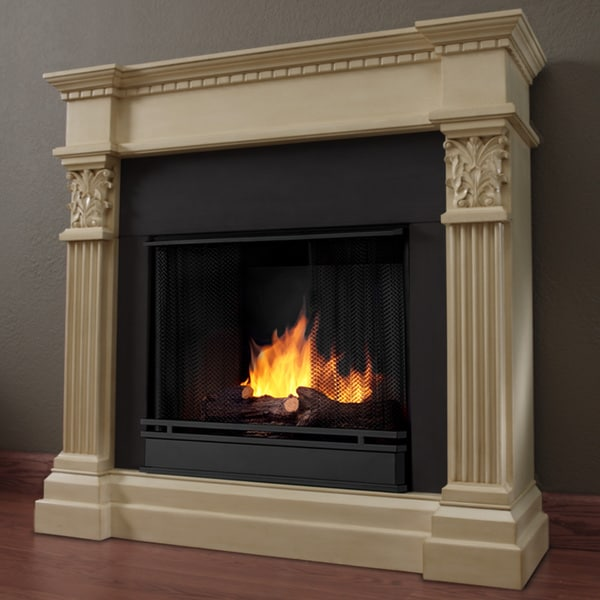 Real Flame 'Gabrielle' Ant White Vent-less Gel Fireplace