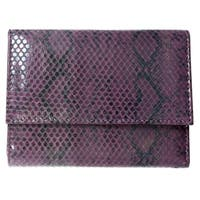 Brandio Women's Purple Snake Print Leather Wallet