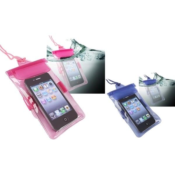 INSTEN Blue/ Pink Waterproof Bag for Motorola Droid Razr XT912/ XT910