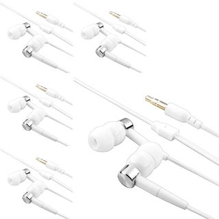 INSTEN White/ Silver Headset for Apple iPod Touch 4th Generation (Pack of 5)