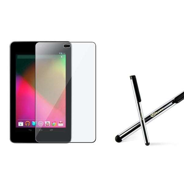 INSTEN Scream Protector/ Silver Stylus for Google Nexus 7
