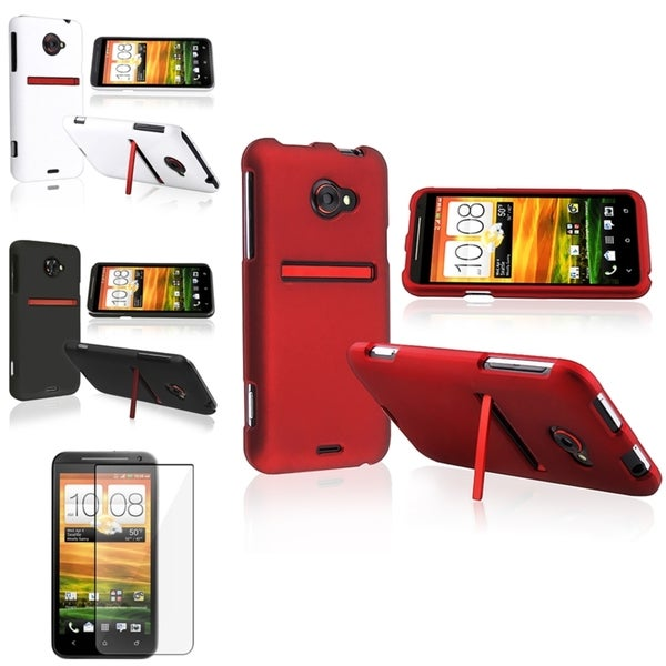 BasAcc Black/ White/ Red Case/ Screen Protector for HTC EVO 4G LTE