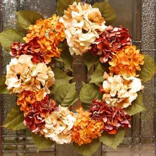 Fall Hydrangea Flower Wreath